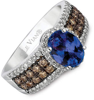 Le Vian 14ct gold diamond & Blueberry Tanzanite ring