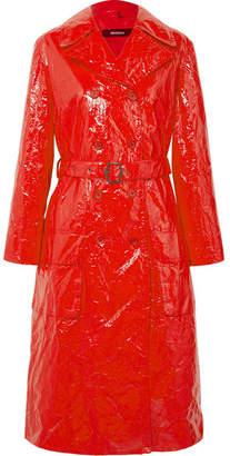 Sies Marjan - Bessie Crinkled-vinyl Trench Coat - Crimson