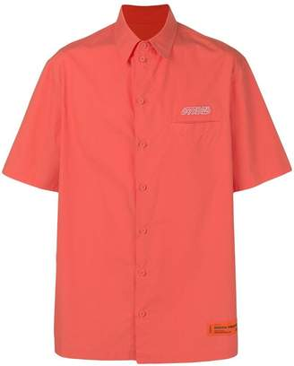 Heron Preston embroidered logo shirt