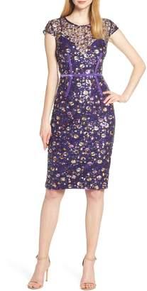 Bronx and Banco Barbara Sequin & Ribbon Detail Cocktail Dress