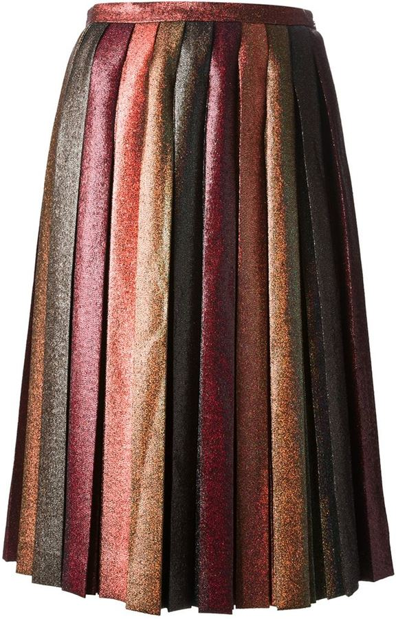 Marco De Vincenzo pleated glitter skirt