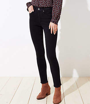 LOFT Curvy Soft Skinny Jeans in Black