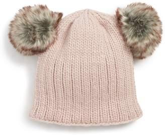 Nirvanna Designs 'Double Pom' Knit Beanie