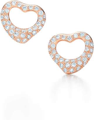 Tiffany Co Elsa Peretti Open Heart Earrings