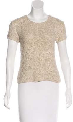 Calvin Klein Collection Silk Short Sleeve Top