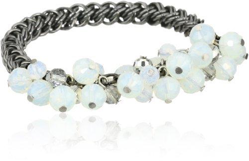 "Kenneth Cole New York ""Modern Opal"" Shaky Faceted Bead Half Stretch Bracelet"