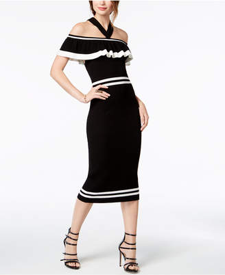 XOXO Juniors' Ruffled Sweater Dress