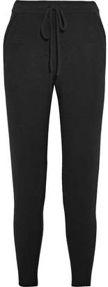 ATM Anthony Thomas Melillo Luxe Essentials Brushed-cashmere Track Pants - Black