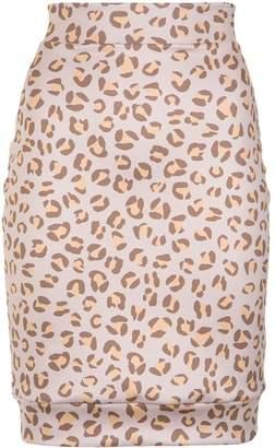 AMIR SLAMA leopard print skirt