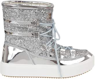 Chiara Ferragni Glittered Coating Snow Boots