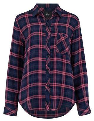 Rails Hunter Shirt in Navy and Mauve
