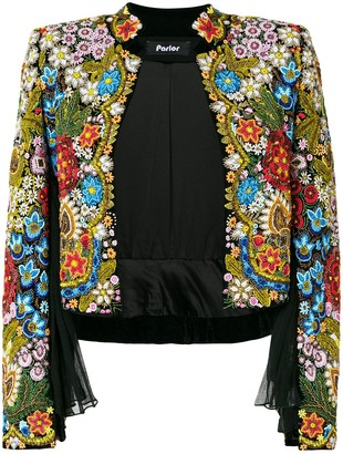 Parlor floral embellishment jacket
