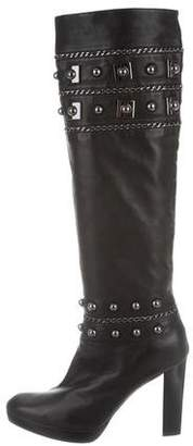 Stuart Weitzman Studded Knee-High Boots