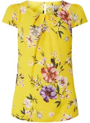 Dorothy Perkins Womens **Billie & Blossom Ochre Floral Shell Top