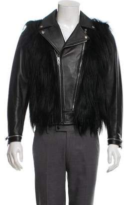 Saint Laurent 2013 Goat Hair Leather Moto Jacket