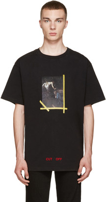 Off-White Black Annunciazione T-Shirt $235 thestylecure.com