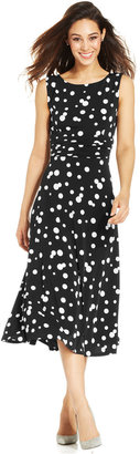 Jessica Howard Polka-Dot Midi Dress $69 thestylecure.com