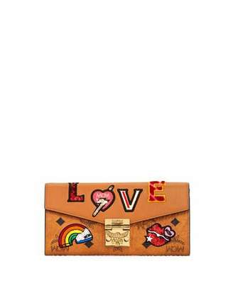 MCM Patricia Love Large Patchwork Continental Wallet