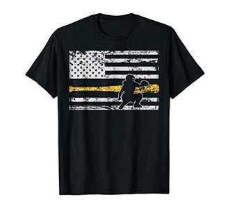 Softball Catcher Shirts Baseball Catcher American Flag Shirt