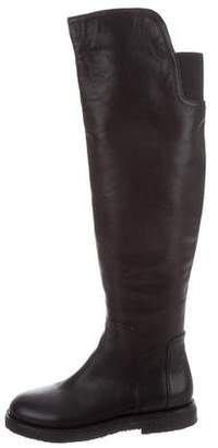 Vince Leather Over-The-Knee Boots