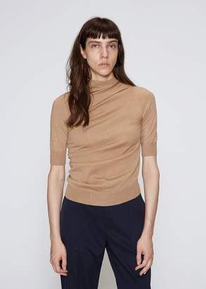 Jil Sander Short Sleeve Mock Neck Sweater