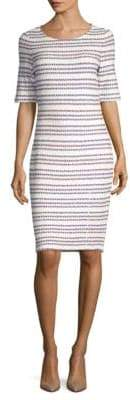 St. John Striped Sheath Dress