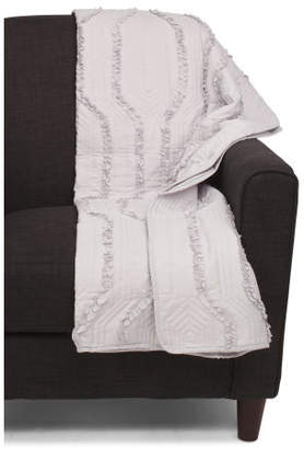 Ruffle Quilted Throw