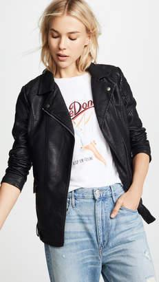 BB Dakota Jack by Can't Be Tamed Vegan Leather Moto Jacket