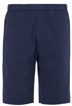 Barena Venezia - Concealed Drawstring Cotton Blend Shorts - Mens - Navy