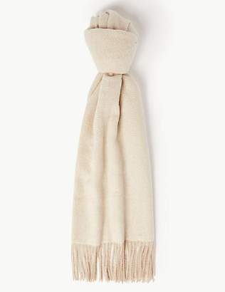 M&S Collection Textured Herringbone Scarf