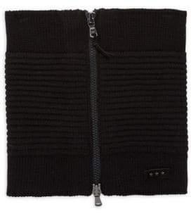 John Varvatos Ottoman Knitted Zip Neckwarmer