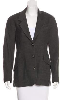Salvatore Ferragamo Button-Up Woven Blazer