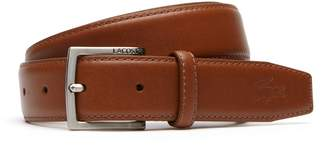 Lacoste Men's Engraved Tongue Buckle Leather Belt