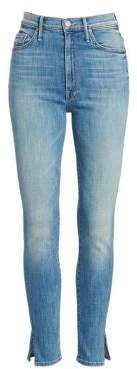 Mother Swooner High-Rise Split Ankle Jeans