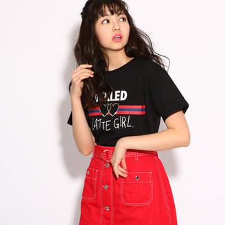 PINK-latte (ピンク ラテ) - ピンクラテ ★ニコラ掲載★【吸水速乾】ロゴ Tシャツ