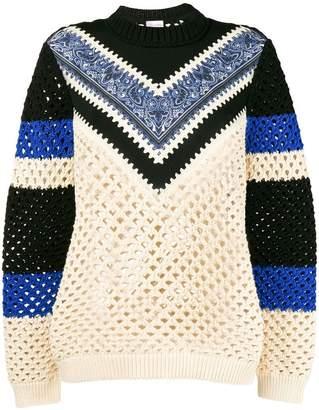 RED Valentino bandana insert sweater