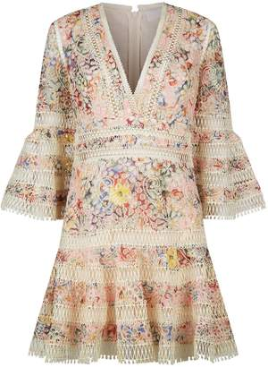 Zimmermann Lovelorn Floral Lace Mini Dress