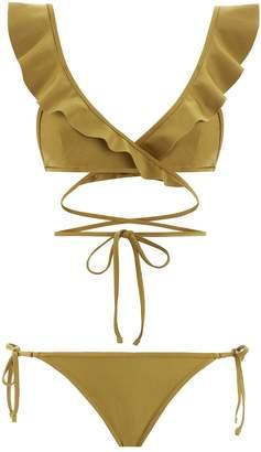 Jaya V-Plunge Flounce Bikini