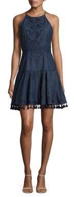 Parker Sandra Chambray Dress $298 thestylecure.com