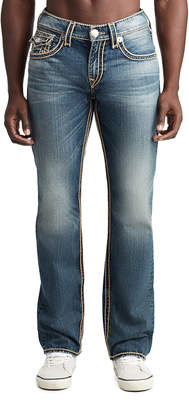 True Religion MENS ROPE STRAIGHT JEAN W/ FLAP