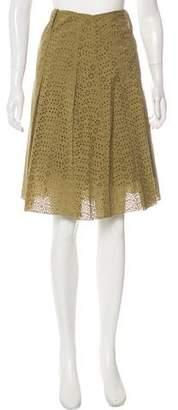 Burberry Eyelet Knee-Length Skirt