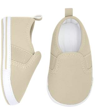 "Gold Bug Baby Happy Camper"" Slip On Crib Shoes"
