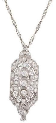 Diamond Filigree Pendant Necklace