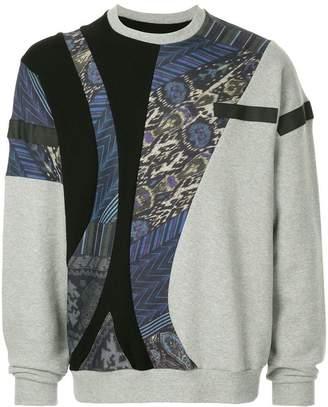 Yoshio Kubo Yoshiokubo multi-pattern sweatshirt