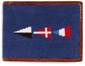Brooks Brothers Nautical Flag Needlepoint Wallet