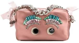 Anya Hindmarch Eyes chain clutch bag