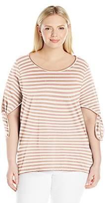 Junarose Women's Plus Size Clair Short Sleeve Blouse