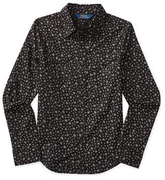 Ralph Lauren Childrenswear Girls 7-16 Printed Western Shirt $55 thestylecure.com
