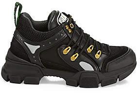 Gucci Women's Flash Trek Leather-Blend Sneakers