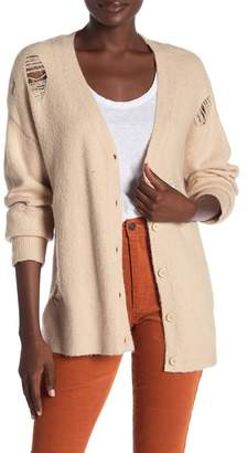 Honey Punch Distressed Button Up Cardigan